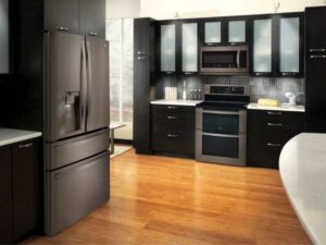 What Color Cabinets Go with Black Stainless Steel Appliances?