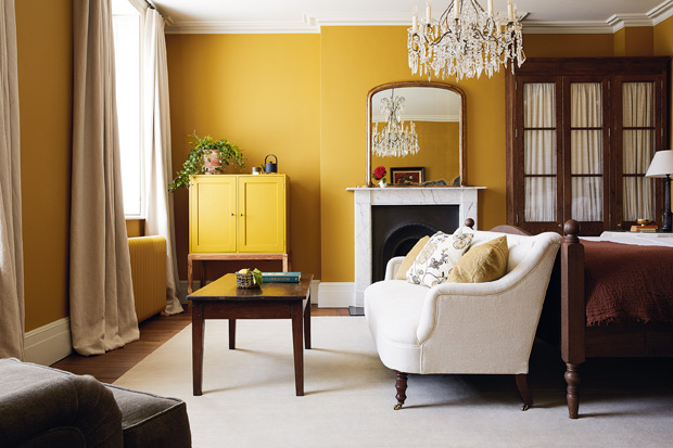 What Color Curtains Go With Mustard Yellow Walls?
